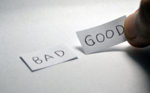 bad et good pour representer les experiences qui peuvent etre mauvaises