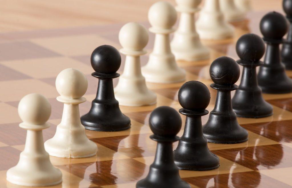 jeu d'échec pour montrer qu'il faut etre discipliné